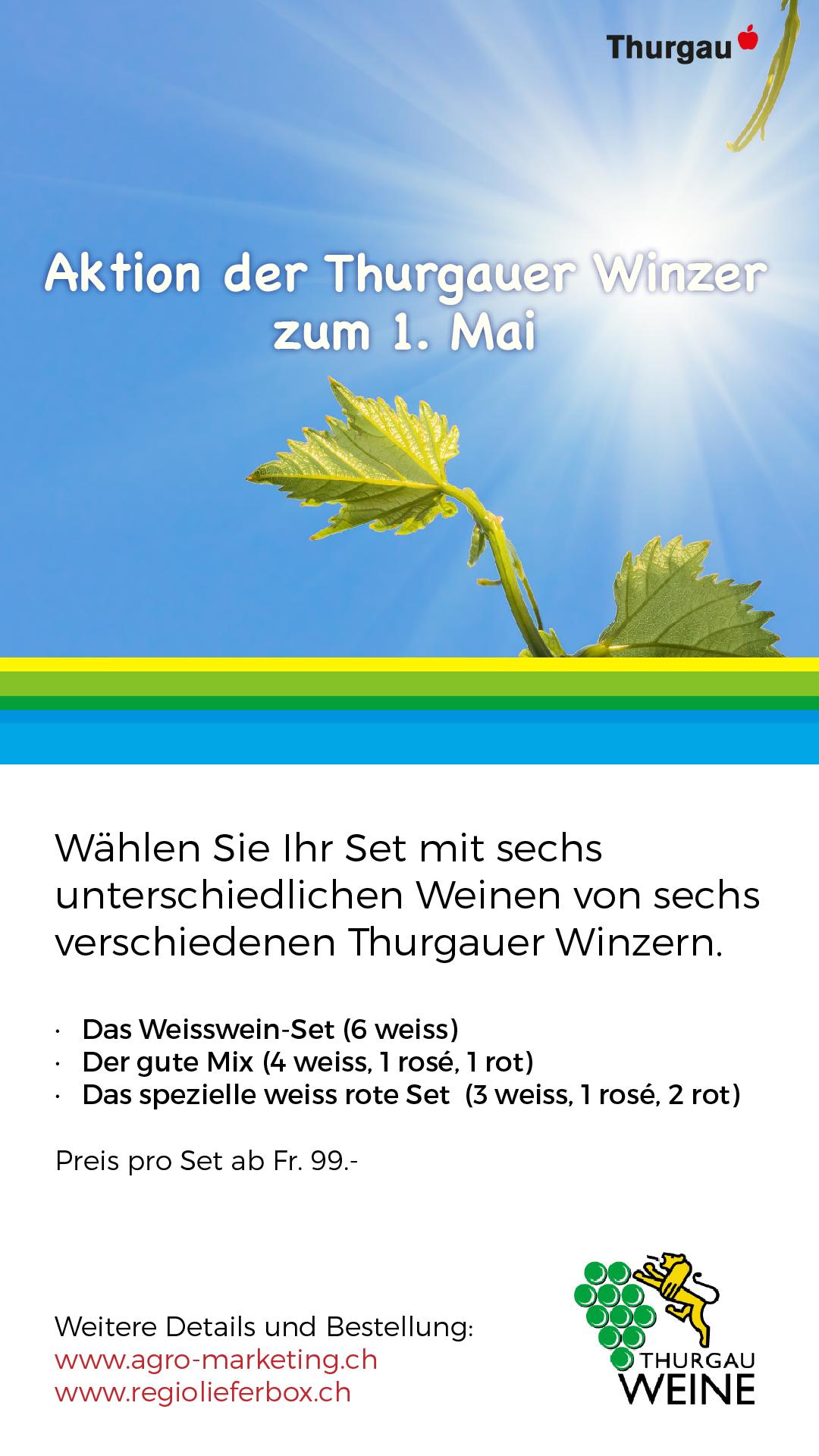 Aktion der Thurgauer Winzer zum 1. Mai
