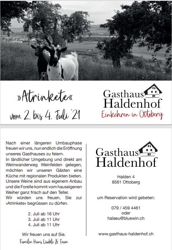 Atrinkete – Gasthaus Haldenhof